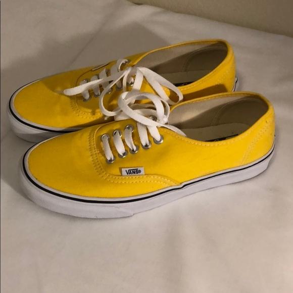 Vans Shoes | Yellow Vans Classic | Poshmark